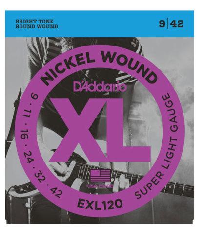 DADDARIO EXL120 Elgitarr Nickel Wound 009-042