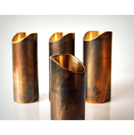 Rockslide Aged Brass Guitar Slide