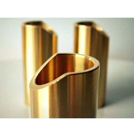 Rockslide Polished Brass Guitar Slide