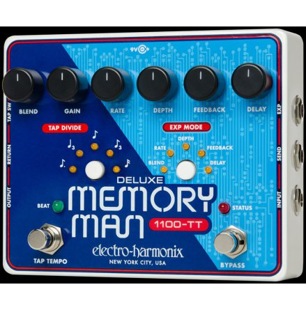 Electro Harmonix Deluxe Memory Man w/Tap Tempo 1100ms
