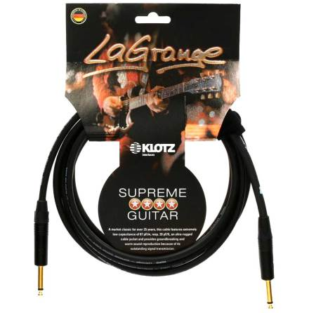 Klotz La Grange Gold 3m STR-STR Instrument Cable