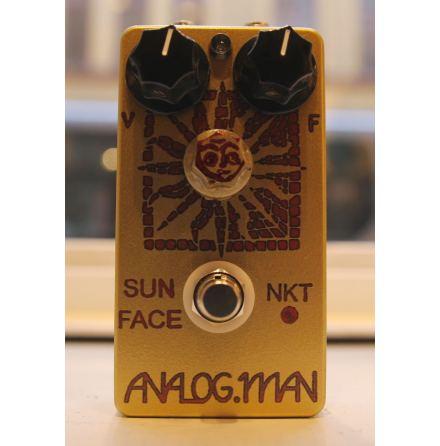 Analog Man SunFace Fuzz Red Dot NKT brand transistors w Sundial