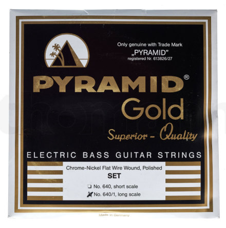 Pyramid Chrome-Nickel Flatwound 045-105 Long scale