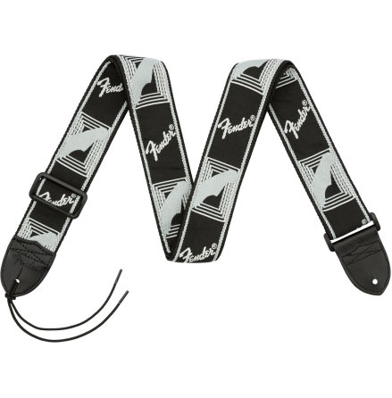 Fender Monogrammed Strap Black-Light Grey-Dark Grey