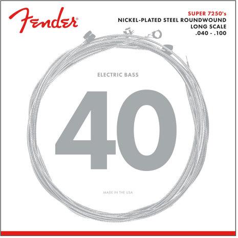 Fender Super 7250 Bass Strings, 40-100
