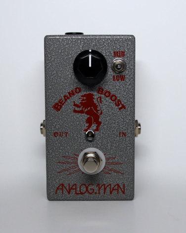 Analog Man Beano Boost w Power Jack & 2N280 Holland black bullet transistor