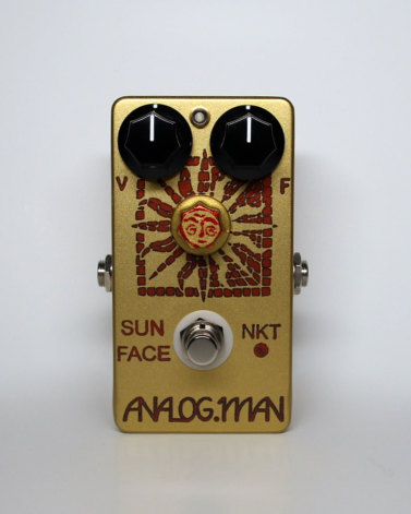 Analog Man SunFace Fuzz Red Dot NKT Brand w/ LED, Power Jack and Sundial