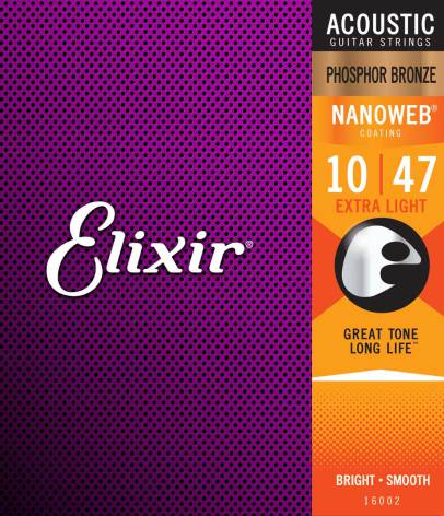 Elixir Acoustic Phosphor Bronze NANOWEB | 010-047