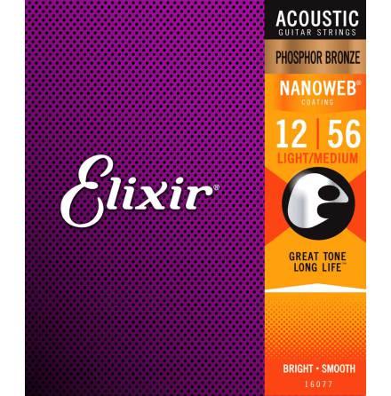 Elixir Acoustic Phosphor Bronze NANOWEB | 012-056