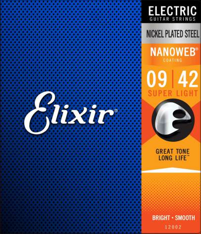 Elixir Electric Nickel Plated Steel NANOWEB | 009-042