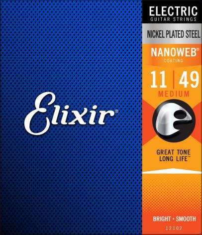 Elixir Electric Nickel Plated Steel NANOWEB | 011-049