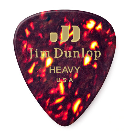 Dunlop Celluloid Shell Pick Heavy Players Pack 12-Pack
