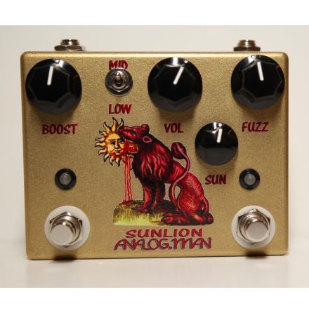 Analog Man Sun Lion Fuzz Booster 1960s USA RCA, British Black Bullet w Top Jacks