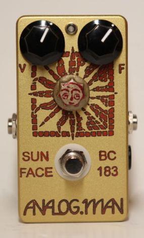 Analog Man SunFace Fuzz BC183 Silicon w/ LED, Power Jack and Sundial
