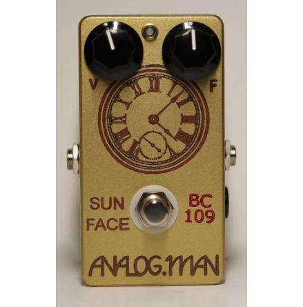 Analog Man SunFace Fuzz TFK BC-109B Silicon w/ LED and Power Jack
