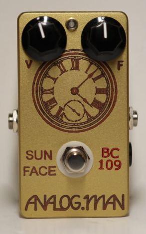 Analog Man SunFace Fuzz TFK BC-109B Silicon w/ LED and Power Jack