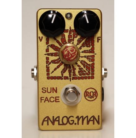 Analog Man SunFace Fuzz 1960s USA RCA Germanium w/ LED, Power Jack and Sundial