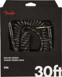 Fender Deluxe Coil Cable 30ft Black Tweed