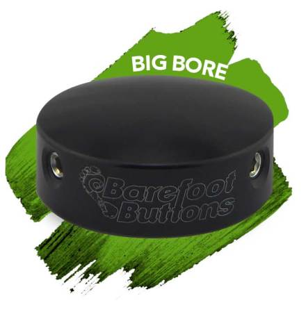 Barefoot Buttons V1 BIG BORE BLACK