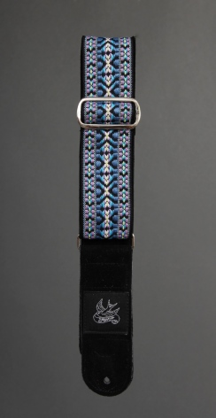 Jaykco Blue and Lavender Woven on Black