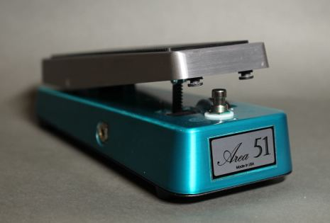 Area 51 Standard Wah Teal/Brushed Aluminum w Buffer