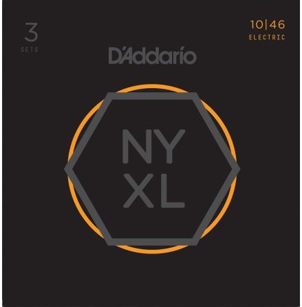 DADDARIO NYXL1046-3P Elgitarr NYXL 010-046 3-PACK