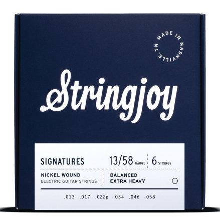 Stringjoy Balanced Extra Heavy (13-58) Nickel Wound Electric Guitar Strings