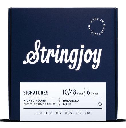 Stringjoy Balanced Light (10-48) Nickel Wound Electric Guitar Strings