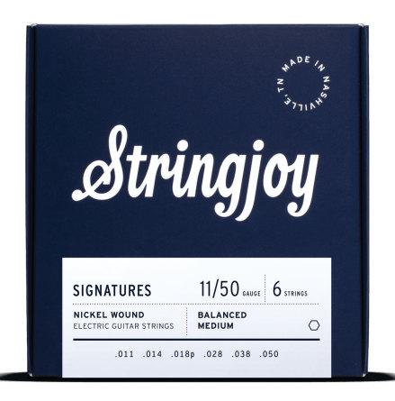 Stringjoy Balanced Medium (011-050) Nickel Wound Electric Guitar Strings