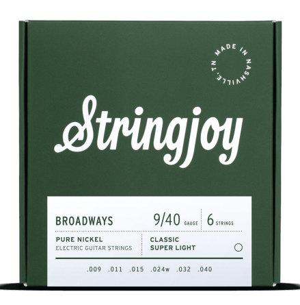 Stringjoy Broadways (9-40) Pure Nickel Electric Guitar
