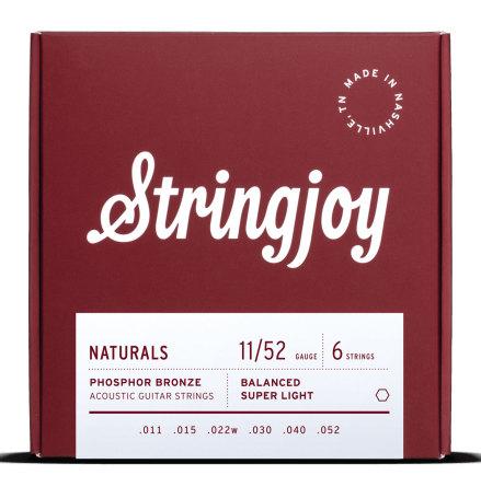 Stringjoy Natural Phosphor Bronze Super Light (11-52) Acoustic Guitar Strings