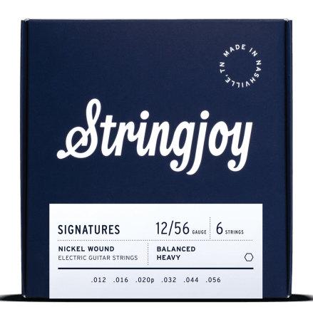 Stringjoy Balanced Heavy (12-56) Nickel Wound Electric Guitar Strings