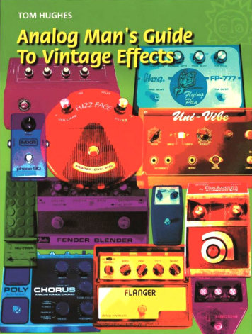 Analog Mans Guide to Vintage Effects Book