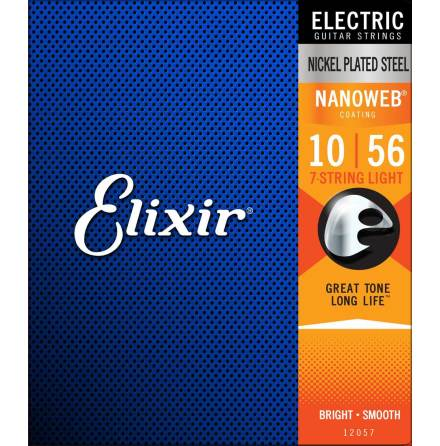 Elixir Electric 7-String Nickel Plated Steel NANOWEB | 010-056