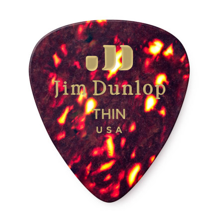 Dunlop Celluloid Shell Pick Thin Players Pack 12-Pack