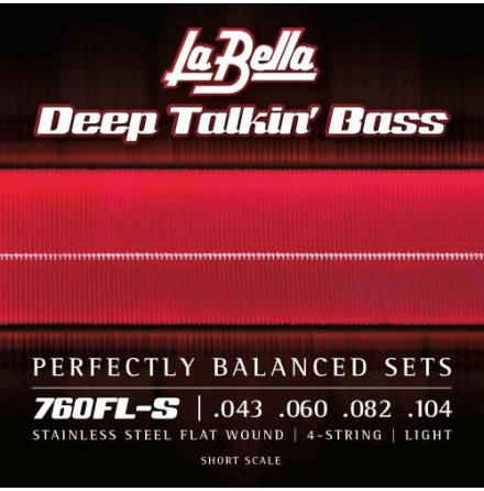 La Bella 760FL Deep Talkin Bass Flats - Light 43-104