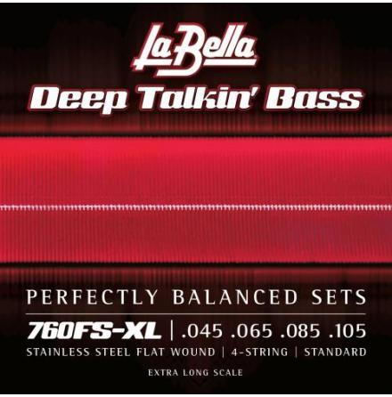 La Bella 760FS-XL Deep Talkin Bass Flats - Standard, Extra Long Scale
