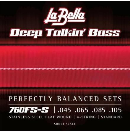 La Bella 760FS-S Deep Talkin Bass Flats - Standard, Short Scale