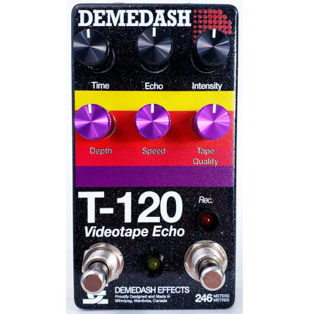 Demedash T-120 Deluxe Videotape Echo Black Sparkle Finish