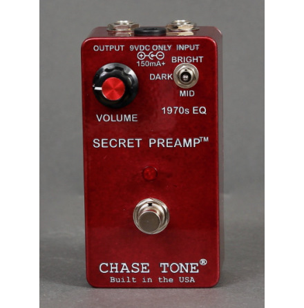 Chase Tone Secret Preamp Candy Apple Red Glaze