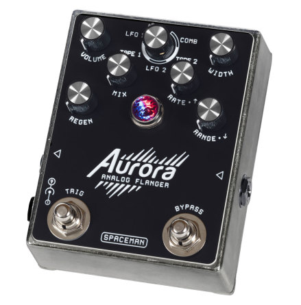 Spaceman Aurora Multi-mode Analog Flanger Silver