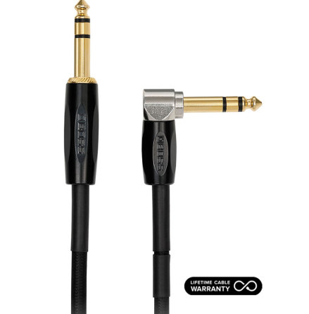 Boss Premium Cable BCC-3-TRA TRS-TRS Right Angle Cable 1m