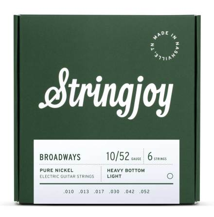 Stringjoy Broadways (10-52) Pure Nickel Electric Guitar