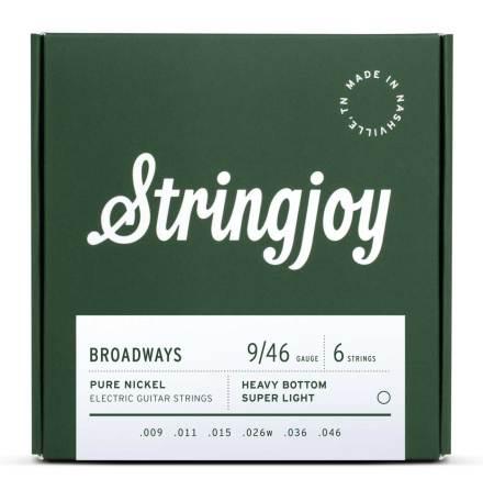 Stringjoy Broadways (9-46) Pure Nickel Electric Guitar