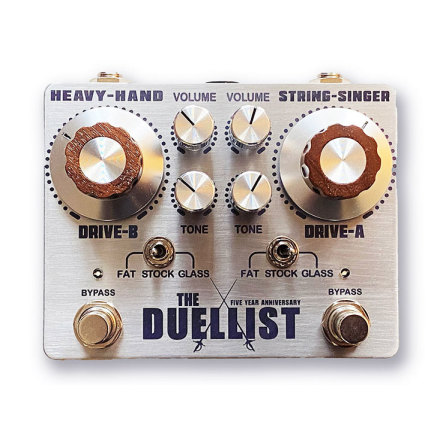 King Tone The Duellist Dual Overdrive Silver