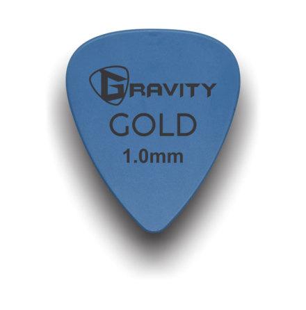 Gravity Picks Blue Gold 1.0 mm