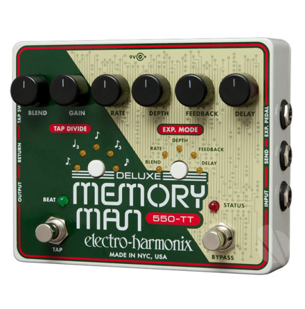 Electro Harmonix XO Deluxe Memory Man Tap Tempo 550