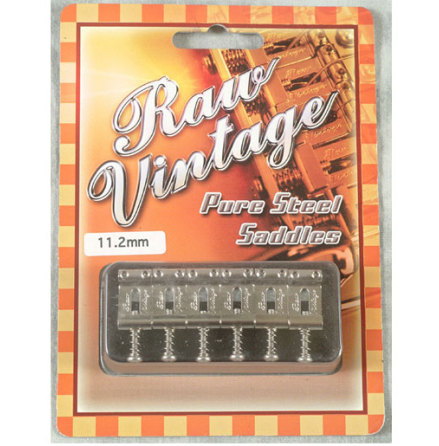 Raw Vintage Pure Steel saddles RVS-112 (Fender Type)