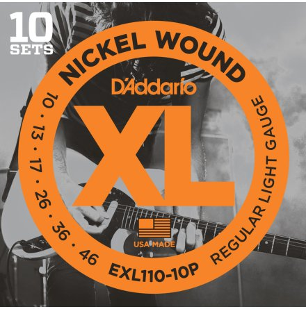 DADDARIO EXL110 Elgitarr Nickel Wound Propack 010 -046 (10-pack)