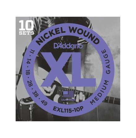 D´Addario Elgitarr Nickel Wound Propack 011 -049 (10-pack)